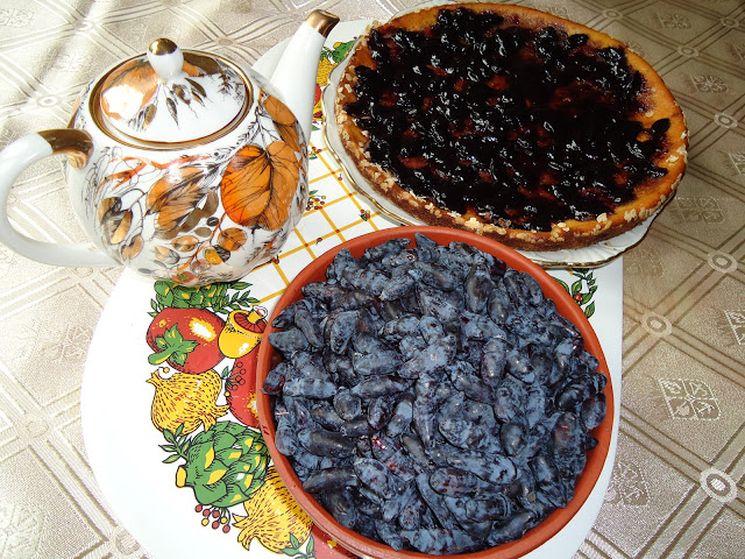 Пирог из ягод жимолости